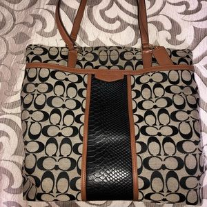 Authentic Coach Snakeskin Purse and Wallet Set